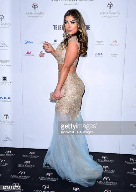 Abi Clarke attending the 7th annual Asian Awards at the Hilton Hotel Park Lane London PRESS ASSOCIATION Photo Picture date Friday May 5 2017 Photo...