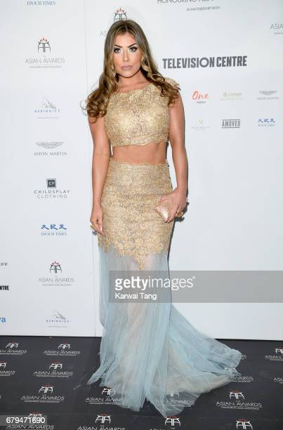 Abi Clarke attends The Asian Awards at the Hilton Park Lane on May 5 2017 in London England