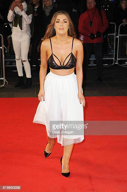 Abi Clarke attends the UK premiere of The Pass at Odeon Leicester Square on March 16 2016 in London England