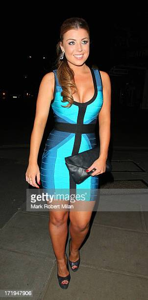 Abi Clarke leaving STK restaurant on June 29 2013 in London England