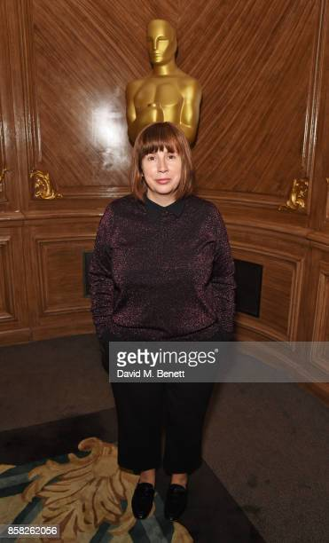 Abi Morgan attends the Academy of Motion Picture Arts and Sciences Women In Film lunch at Claridge's Hotel on October 6 2017 in London England