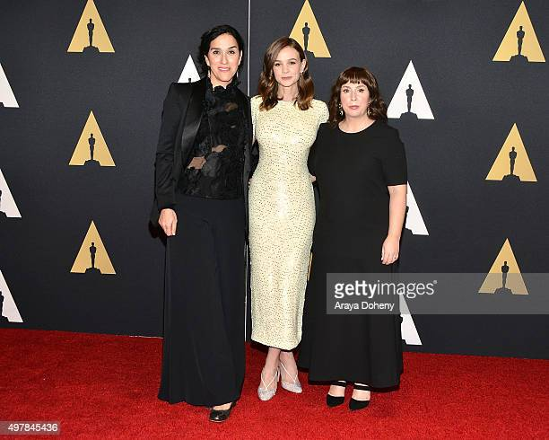 Abi Morgan Carey Mulligan and Sarah Gavron attend the Academy of Motion Picture Arts and Sciences' 7th Annual Governors Awards at The Ray Dolby...