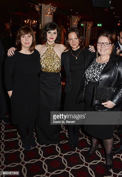 Abi Morgan Felicity Jones Gaby Tana and Joanna Scanlan attend an after party celebrating the UK Premiere of The Invisible Woman at No 41 Mayfair on...