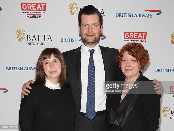 Abi Morgan Luke Parker Bowles and Harlene Freezer attend the BAFTA New York With The Standard Hosts In Conversation With Abi Morgan on October 26...