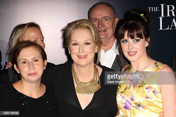 Abi Morgan Meryl Streep and Alexandra Roach attend the European Premiere of The Iron Lady at The BFI Southbank on January 4 2012 in London United...