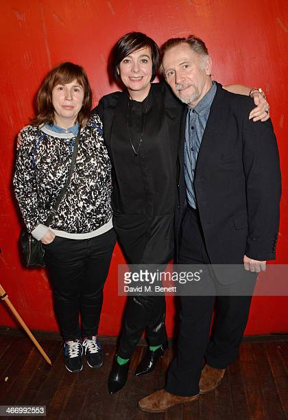 Abi Morgan Vicky Featherstone and Danny Webb attend the press night performance of 'The Mistress Contract' with Quintessentially Vodka at the Royal...