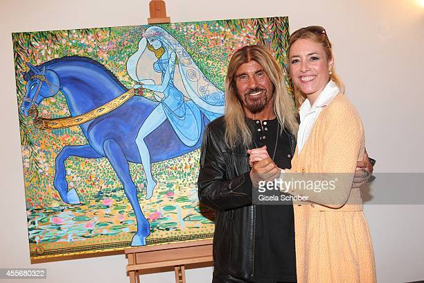 Abi Ofarim and Franziska Fugger Babenhausen attend the Exhibition Opening of Mauro Bergonzoli at Bayerisches Nationalmuseum on September 18 2014 in...