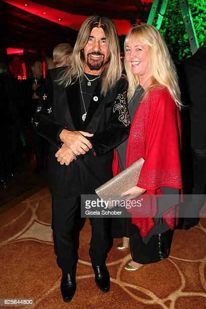 Abi Ofarim and his girlfriend Kirsten Schmidt during the christmas party at Hotel Vier Jahreszeiten Kempinski on November 24 2016 in Munich Germany