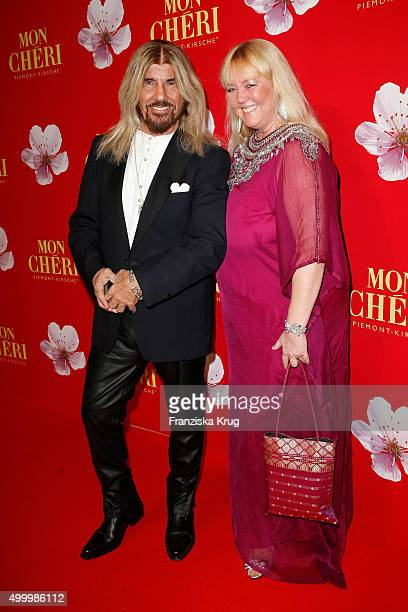 Abi Ofarim and his partner Kirsten Schmidt attend the Mon Cheri Barbara Tag 2015 at Postpalast on December 4 2015 in Munich Germany