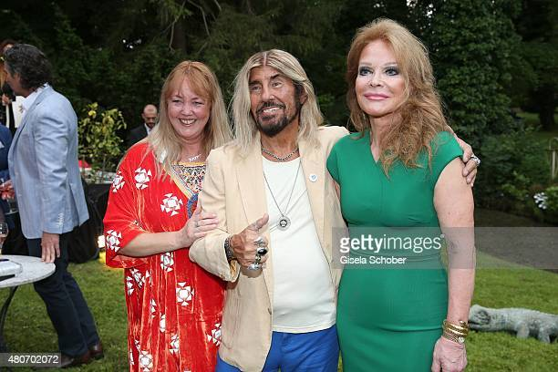 Abi Ofarim and his partner Kirsten Schmidt Ulrike Huebner during the 'Winning by Giving' charity by Hadassah Medical Center on July 14 2015 in Munich...