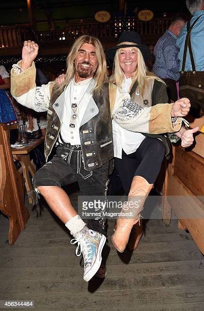 Abi Ofarim and Kirsten Schmidt attend the Sauerland Wiesn at Weinzelt during Oktoberfest at Theresienwiese on September 29 2014 in Munich Germany