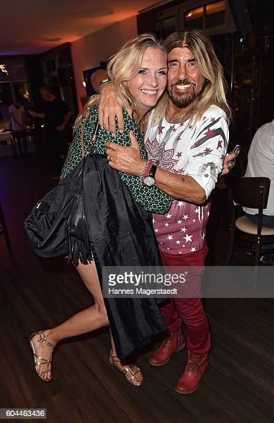 Abi Ofarim and Nicole BelstlerBoettcher during the My Big Fat Greek cocktail on September 13 2016 in Munich Germany