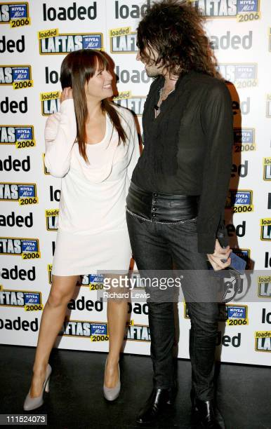 Abi Titmus and Russell Brand winner of Funniest Man