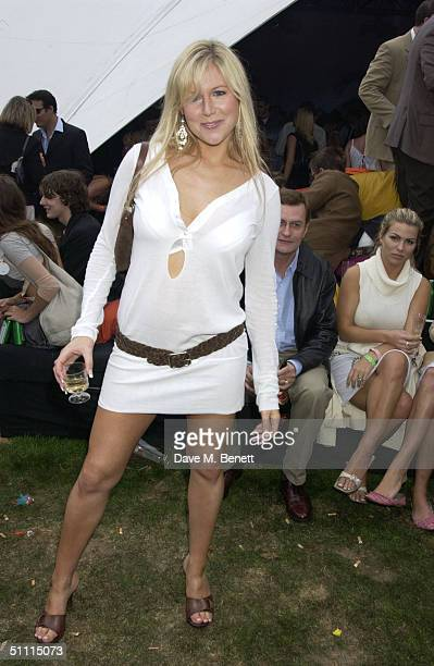 Abi Titmus attends the afterparty in China White's club on Cartier International Day held July 25 2004 at Guards Polo Club Windsor Great Park in...
