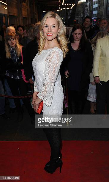 Abi Titmus attends the press night of 'The King's Speech' at Wyndhams Theatre on March 27 2012 in London England