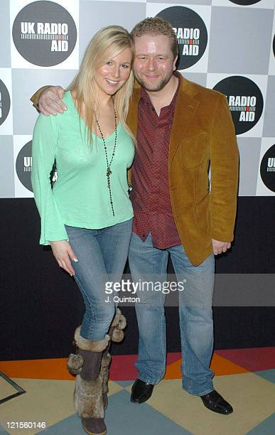 Abi Titmuss and John Culshaw during UK Radio Aid to Benefit Victims of the Asian Tsunami - Inside Arrivals at Capital Radio in London, United Kingdom.