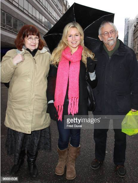 Abi Titmuss and parents sighting on February 14, 2010 in London, England.