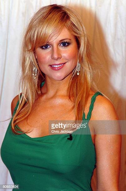 Abi Titmuss arrives for reality television program 'Hell's Kitchen' at Brick Lane on June 6 2004 in London The lineup before the first eviction was...