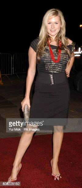 Abi Titmuss arrives for the UK Music Hall Of Fame 2005 live final at the Alexandra Palace north London Wednesday 16 November 2005 The live final is...