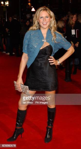 Abi Titmuss arrives for the UK Music Hall Of Fame live final at the Hackney Empire in east London The Channel 4 series looking at popular music from...