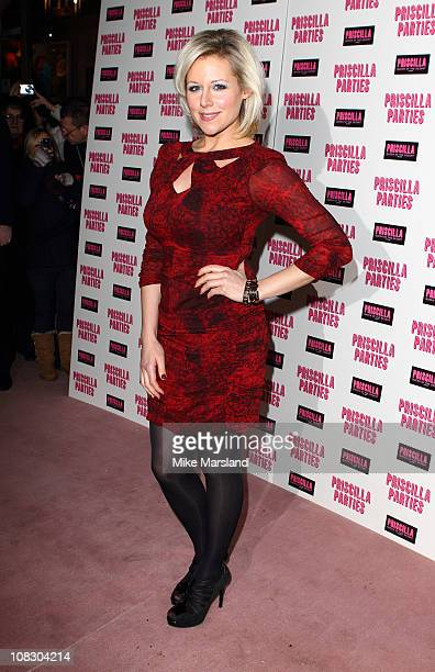 Abi Titmuss attends the launch of 'Priscilla Parties' at Palace Theatre on January 24 2011 in London England