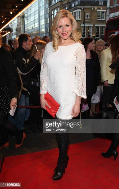 Abi Titmuss attends the press night of The King's Speech at Wyndhams Theatre on March 27 2012 in London England