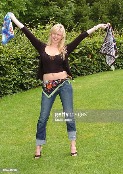 Abi Titmuss during Abi Titmuss Launches Teenage Cancer Trust's Bandanna Campaign at Nash Court, Canary Wharf in London, Great Britain.