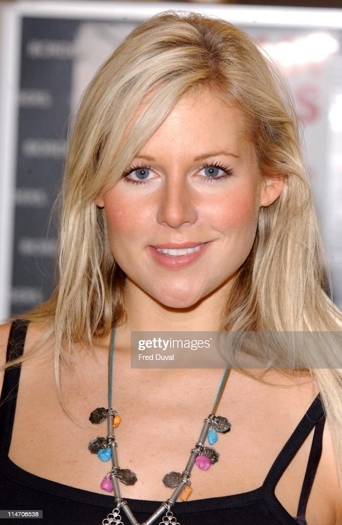 """Abi Titmuss Signs Her Book """"10 Sex Fantasies"""" at Borders in London - July 12, 2005 : News Photo"""