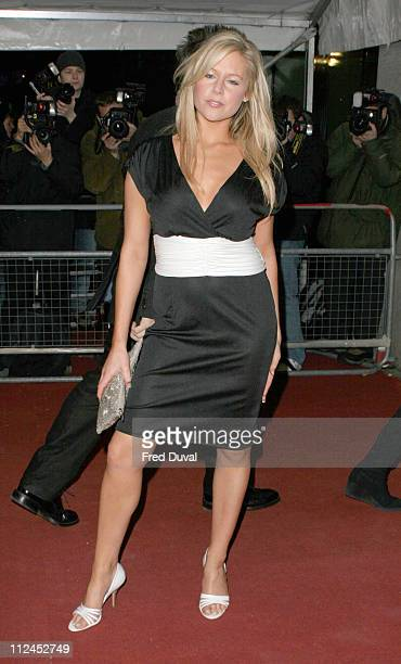 Abi Titmuss during An Audience With Al Murray - The Pub Landlord at The London Television Centre in London, Great Britain.