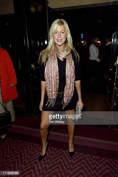 "Abi Titmuss during Charity Performance of ""Chicago"" in Aid of Breakthrough Breast Cancer - Arrivals at Adelphi Theatre in London, Great Britain."