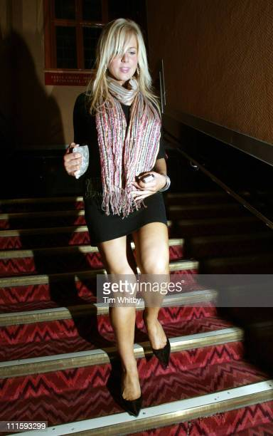 Abi Titmuss during Charity Performance of Chicago in Aid of Breakthrough Breast Cancer After Party at Adelphi Theatre in London Great Britain