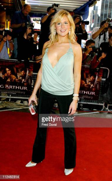 Abi Titmuss during 'King Arthur' London Premiere Arrivals at Empire Leicester Square in London Great Britain