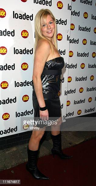 Abi Titmuss during Loaded 10th Birthday - Arrivals at Rouge in London, Great Britain.