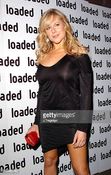Abi Titmuss during Loaded ReLaunch Party at 33 Portland Place in London Great Britain