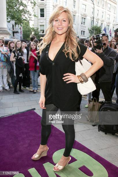 "Abi Titmuss during The Evite Night At The Theatre: ""Lord Of The Rings - The Musical"" - Outside Arrivals at Theatre Royal in London, Great Britain."