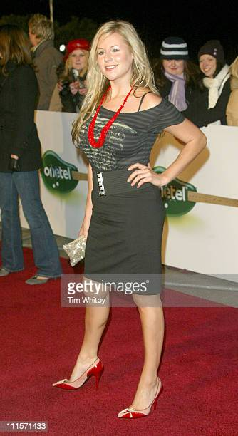 Abi Titmuss during UK Hall of Fame November 16 2005 at Alexandra Palace in London Great Britain