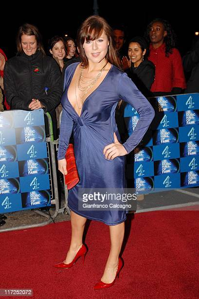 Abi Titmuss during UK Music Hall Of Fame 2006 Arrivals at Alexandra Palace in London Great Britain