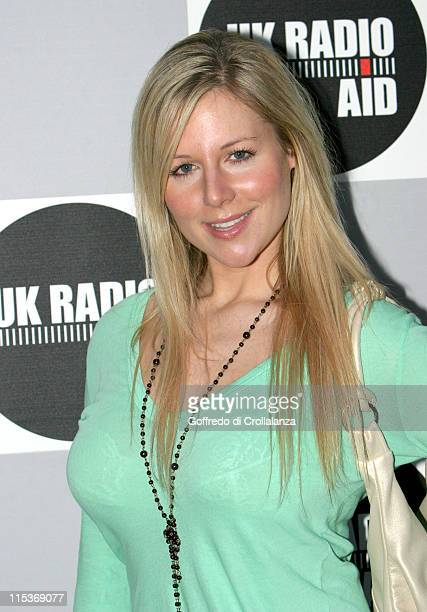 Abi Titmuss during UK Radio Aid To Benefit Victims Of The Asian Tsunami - Arrivals at Capital Radio Building, Leicester Square in London, Great...