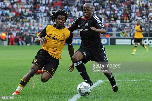 Abia Nale of Chiefs and Lucas Thwala of Pirates during the Absa Premiership match between Orlando Pirates and Kaizer Chiefs from Coca Cola Park on...