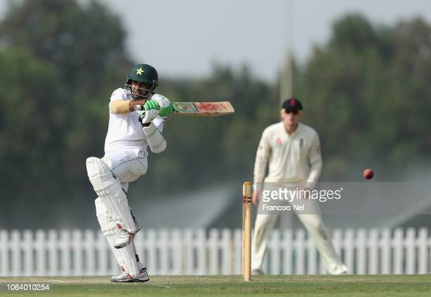 Abid Ali of Pakistan A bats during day four of the tour match between England Lions and Pakistan A at Sheikh Zayed Stadium Nursery 1 on November 21...