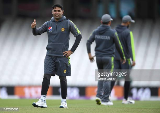 Abid Ali of Pakistan during a net session at The Kia Oval on May 07 2019 in London England