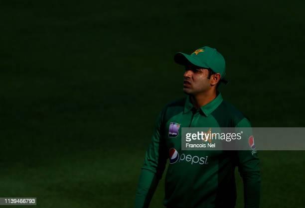 Abid Ali of Pakistan looks on during the 5th One Day International match between Pakistan and Australia at Dubai International Stadium on March 31...
