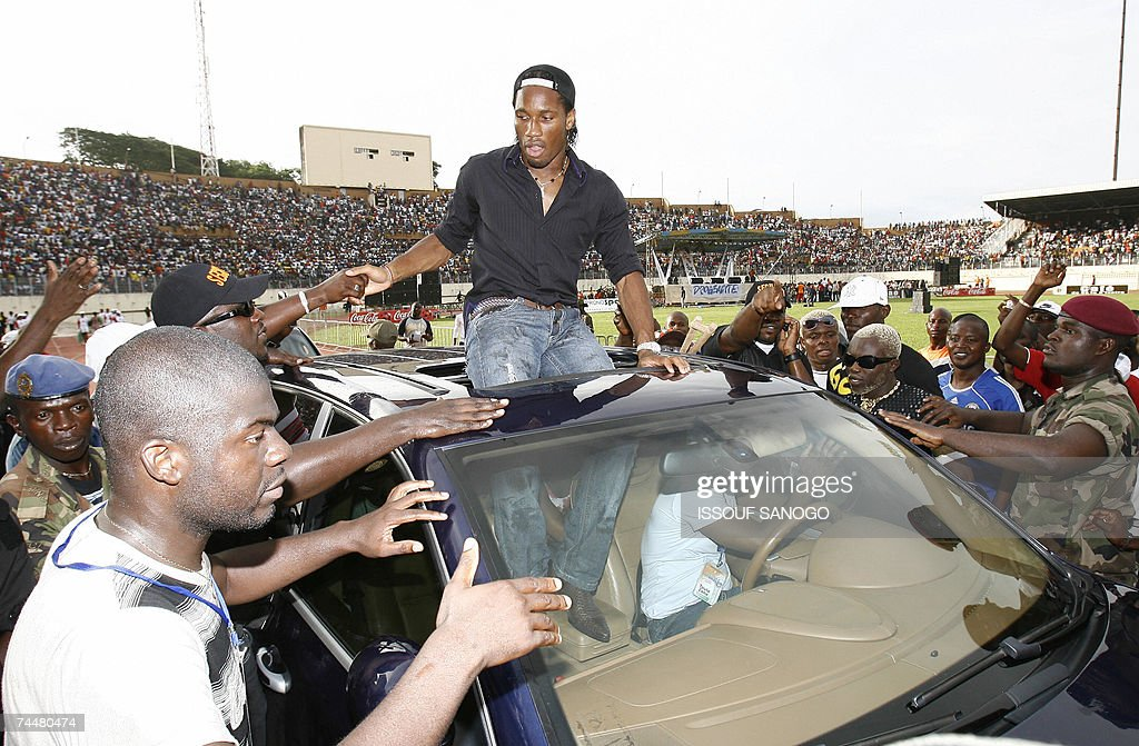 Ivorian football star Didier Drogba, doe... : News Photo