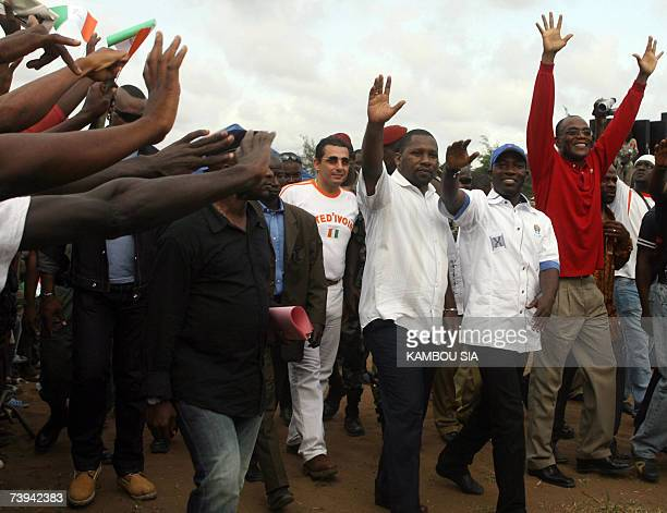 Mamadou Coulibaly , president of the Ivorian national assembly, leader of Young Patriots Charles Ble Goude and minister of New Forces rebel movement...