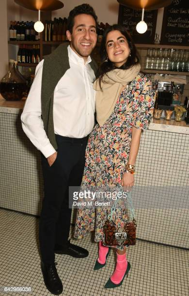 Abie Cohen and Leandra Medine arrive as Topshop and Leandra Medine host dinner to celebrate London Fashion Week on February 19 2017 in London England