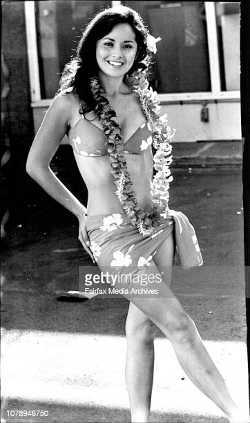 Abigail Banglo 'Miss Hawaii' who was chosen as Queen of the Pacific 1972 on Saturday night flew into Sydney today She will appear in Fashion...