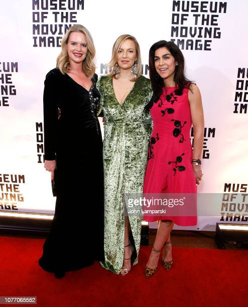 Abigail Baratta Coralie Charriol Paul and Pegah Easton attend the Museum of The Moving Image Salute To Glenn Close at 583 Park Avenue on December 03...