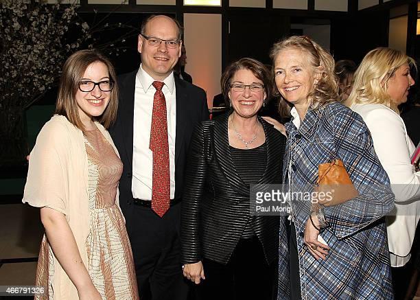 Abigail Bessler John Bessler Sen Amy Klobuchar and Jennifer Maguire attend the ELLE and HUGO BOSS Women in Washington Power List Dinner at The...