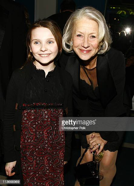 Abigail Breslin and Helen Mirren during Lexus Hosts - 12th Annual Critics' Choice Awards - After Party at Viceroy Hotel in Santa Monica, California,...