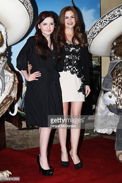 LR Abigail Breslin and Isla Fisher pose at a photocall to promote the release of Rango on Friday March 4th 2011 held at Claridges Hotel on February...